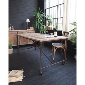 Jedálenský stôl Industrial Natural