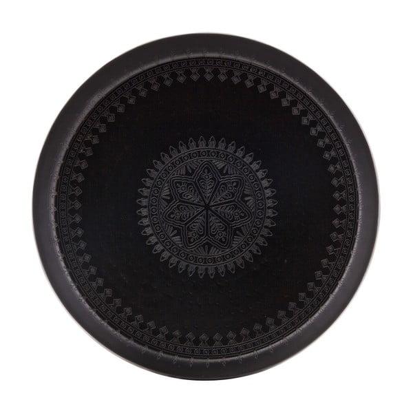 Čierny dekoratívny podnos BePureHome Waitress, Ø 55 cm