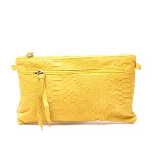 Kožená kabelka Carlita, žltá
