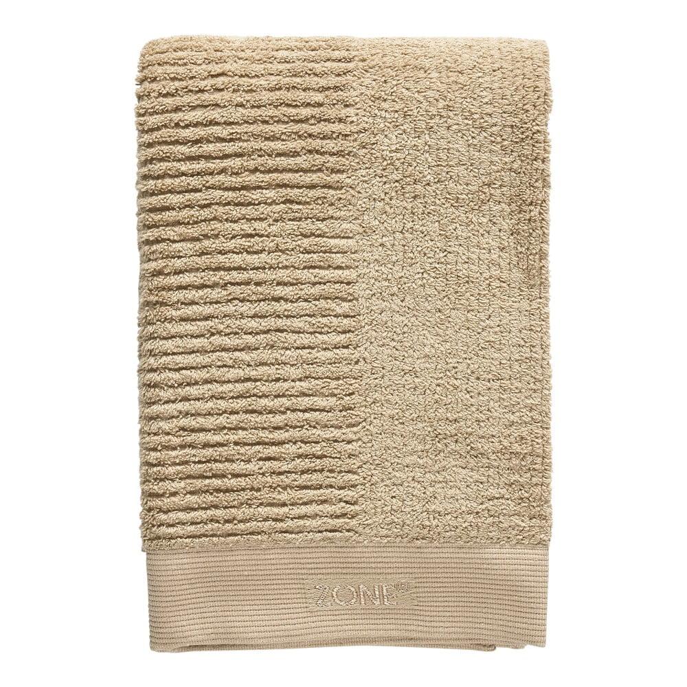 Tmavobéžová bavlnená osuška Zone Classic, 140 x 70 cm