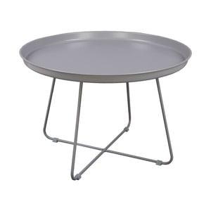 Sivý konferenčný stolík Nørdifra Pogorze, Ø63cm