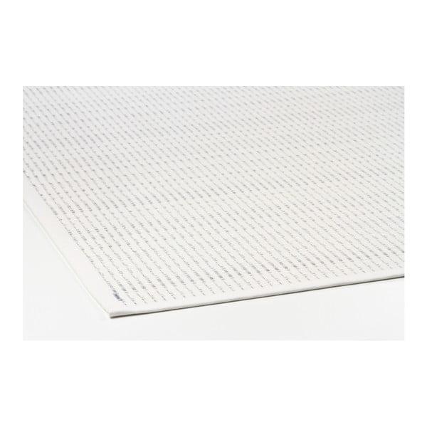 Biely vzorovaný obojstranný koberec Narma Esna, 70 × 140 cm