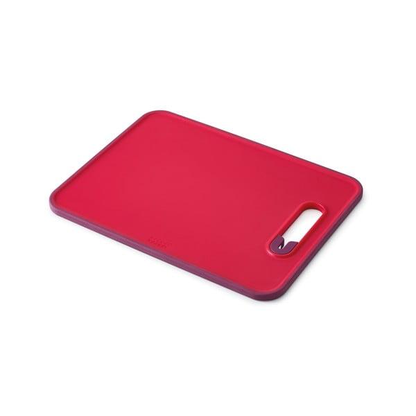 Doštička s integrovaným brúskom Slice & Sharpen, malá, červená