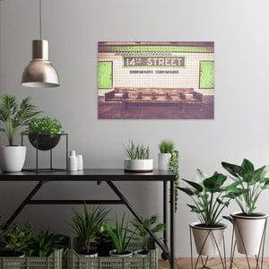 Obraz na plátne OrangeWallz Station, 60 x 90 cm