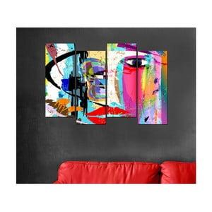 4-dielny obraz Pop Art, 20 x 50 cm