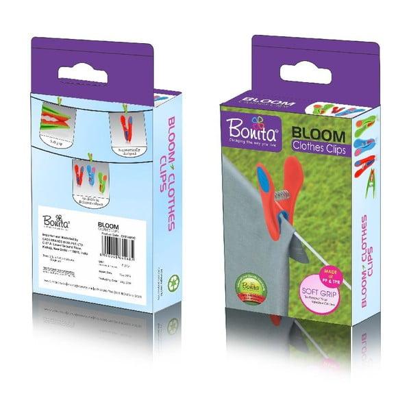 Štipce na bielizeň Bonita Bloom, 24 ks