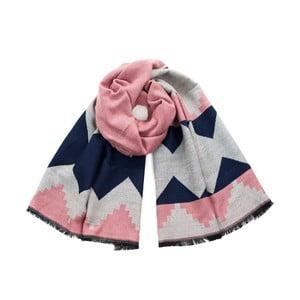 Ružový vzorovaný šál Avril