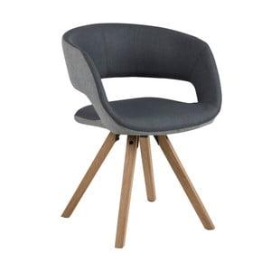 Tmavosivá jedálenská stolička Actona Greta