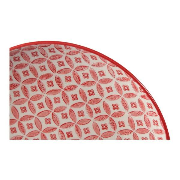 Sada 4 porcelánových tanierov Rubis, 20.5 cm