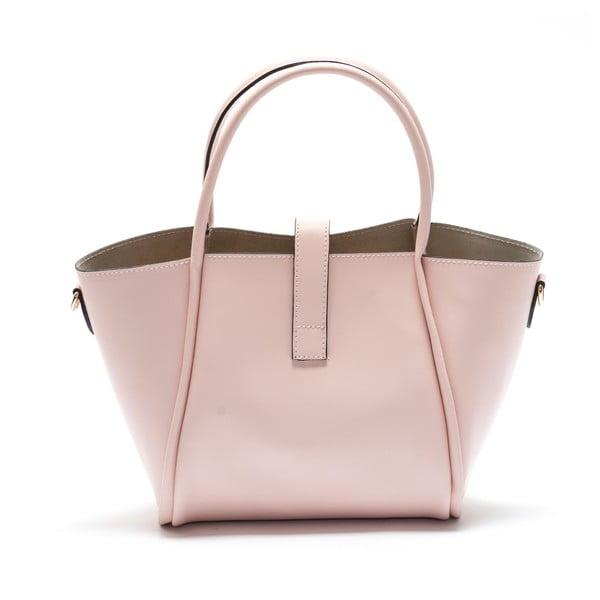 Kožená kabelka Mangotti 3039, ružová
