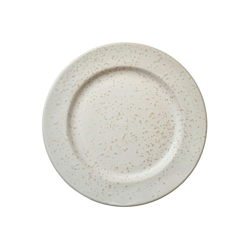 Krémovo-biely kameninový dezertný tanier Bitz Basics Matte Cream, ⌀ 22 cm