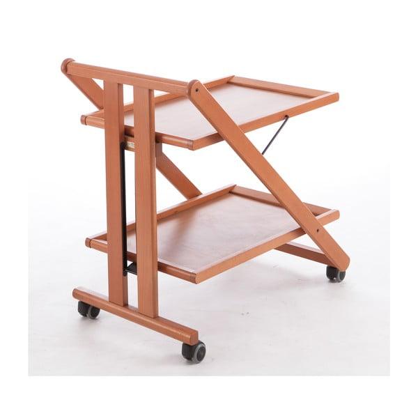 Pojazdný servírovací stolík z bukového dreva Arredamenti Italia Gimmy