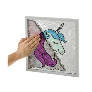 Obraz s flitrami Unimasa Unicorn, 35 x 35 cm
