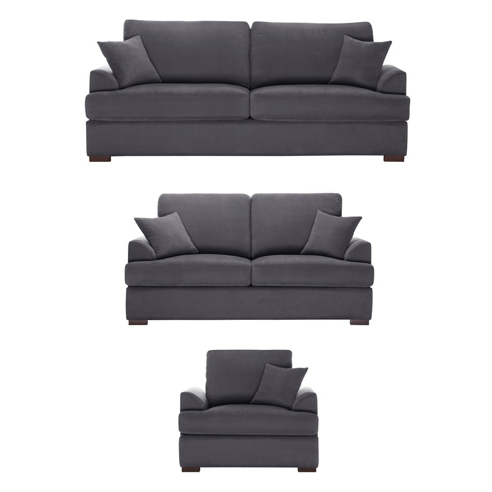 trojdielna sedacia s prava jalouse maison irina antracitov bonami. Black Bedroom Furniture Sets. Home Design Ideas