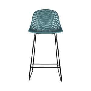 Modrá barová stolička Leitmotiv Diamond Mesh