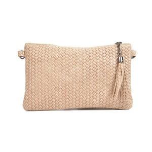 Hnedobéžová kožená kabelka Mangotti Bags Marina