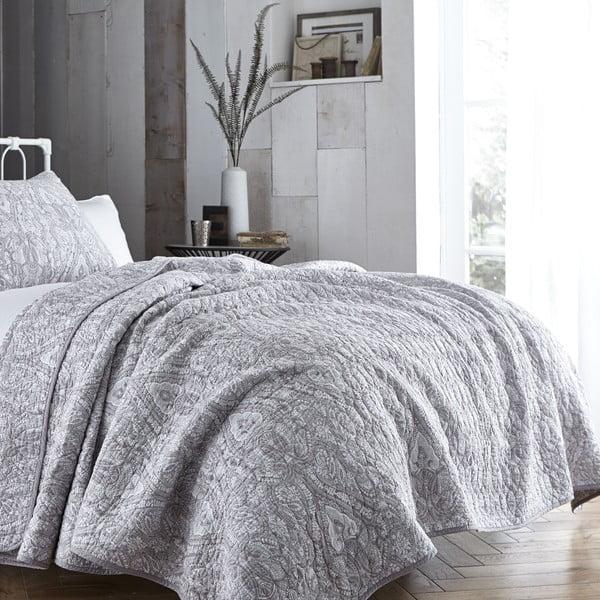 Sivá prikrývka cez posteľ Bianca Simplicity, 200 x 200 cm