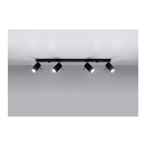 Čierne stropné svetlo Nice Lamps Etna 4L