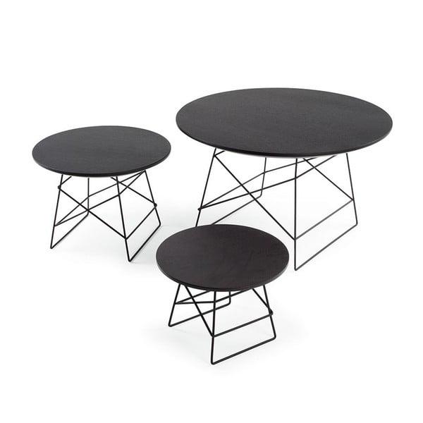 Čierny odkladací stôl Innovation Grid,45cm