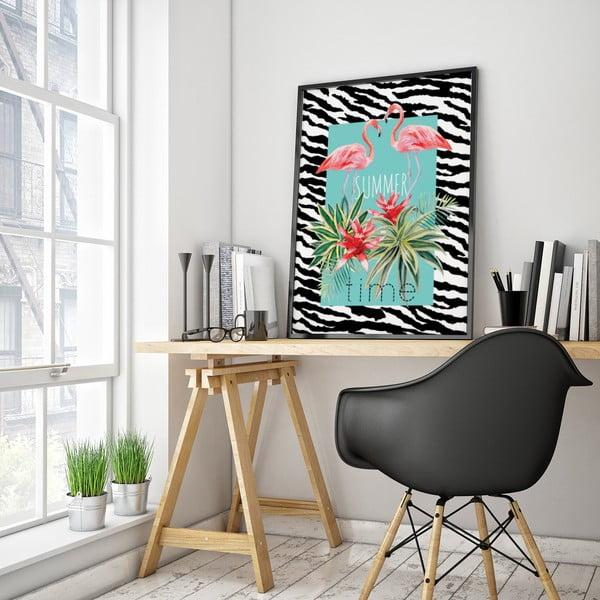 Plagát s pelikánmi Summer Time, 30 x 40 cm