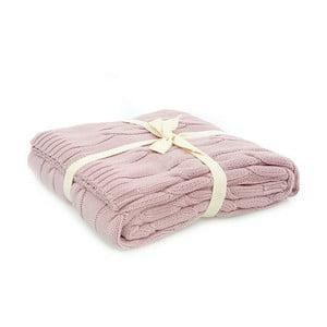 Ružová bavlnená deka Couture, 130×170cm