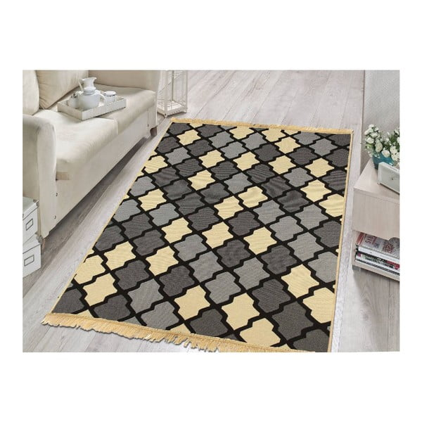 Modrý koberec Floorist Duvar Grey Beige,120x180cm