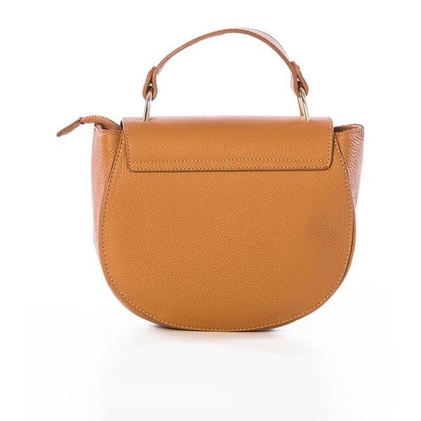 Hnedá kožená kabelka Federica Bassi Virgin