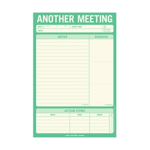 Zápisník na zaznamenávanie schôdzok Another Meeting