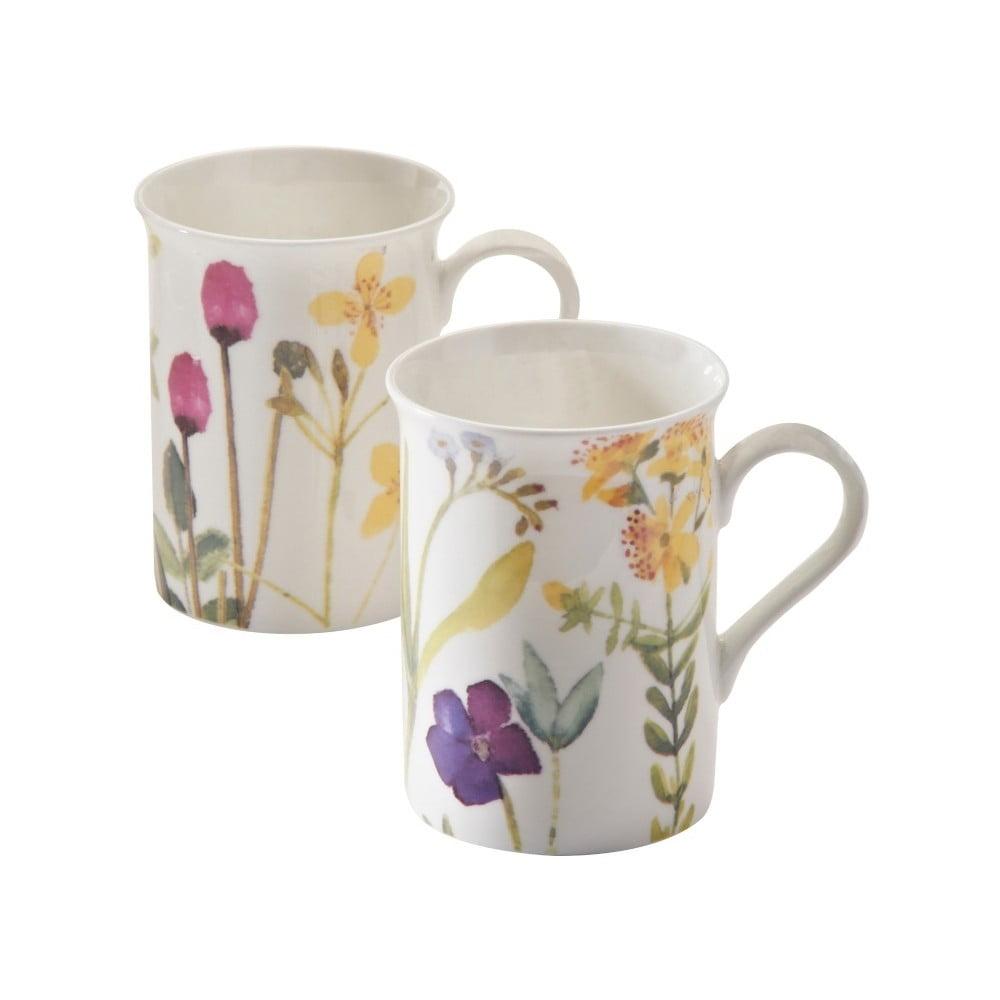 Sada 2 hrnčekov s motívom kvetín z porcelánu Price & Kensington Bloom, 300 ml