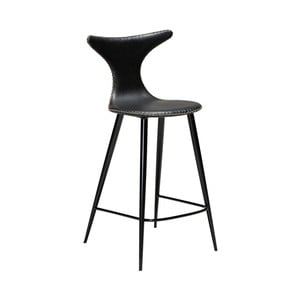 Čierna barová stolička z eko kože DAN–FORM Denmark Dolphin, výška 97 cm