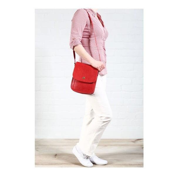 Dámska kožená taška Lucinda Cranberry