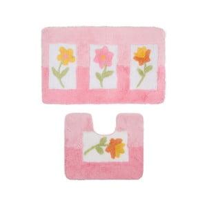 Sada 2 kúpeľňových predložiek Confetti Bathmats Anjelik Pink