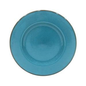 Modrý servírovací tanier z kameniny Casafina Sardegna, ⌀ 34 cm