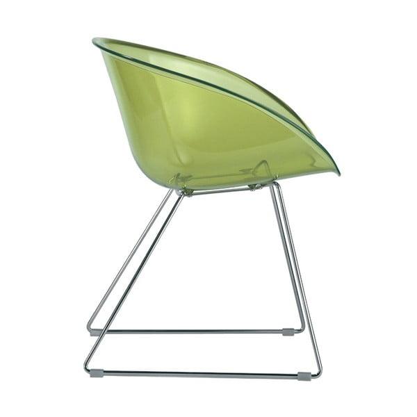 Zelená stolička Pedrali Gliss 921