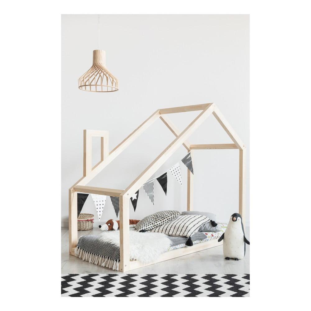 Domčeková posteľ z borovicového dreva Adeko Mila DM, 90 x 160 cm