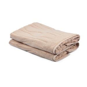 Sada 2 béžových uterákov Beverly Hills Polo Club Gartex, 50×75cm