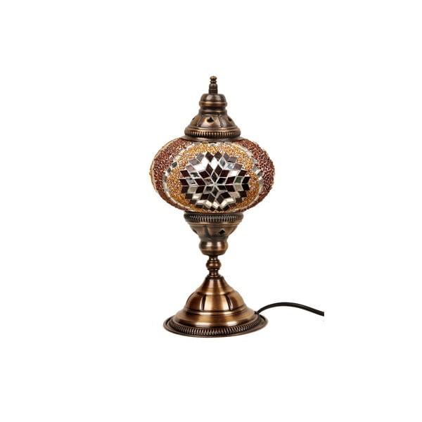 Stolová sklenená lampa Mosaic, ⌀ 17 cm