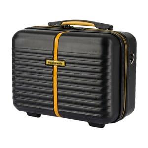 Čierny kozmetický kufrík Travel World, 28×35cm