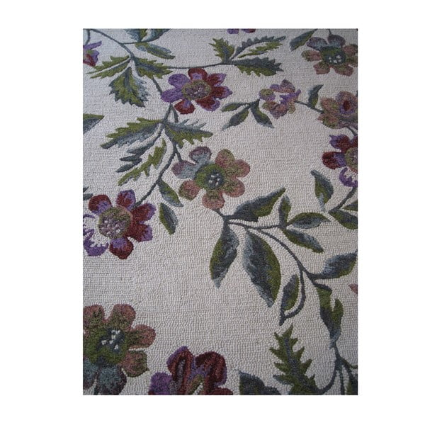 Vlnený koberec Florid Green, 160x230 cm