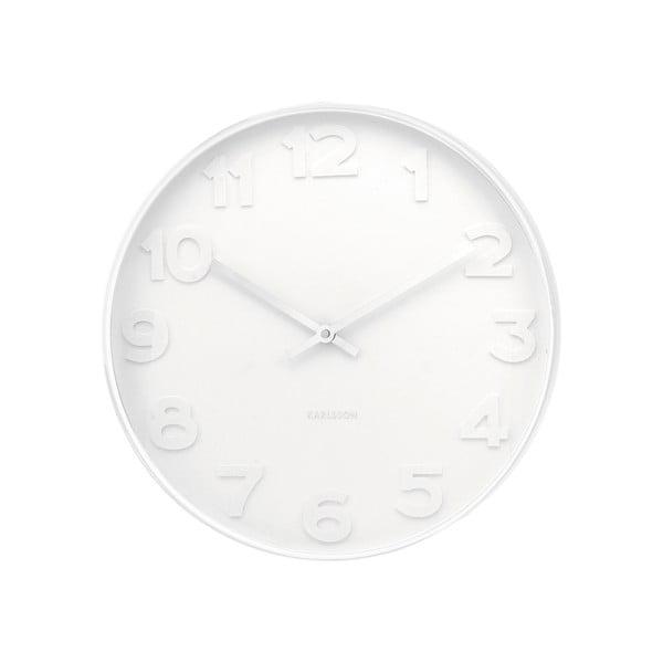 Biele hodiny Karlsson Dentist, Ø51 cm