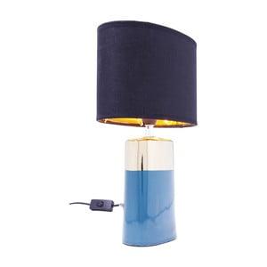 Modrá stolová lampa Kare Design Zelda, výška 32,5 cm