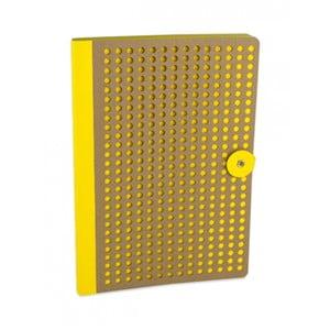 Žltý zápisník Portico Designs Laser, 160 strán