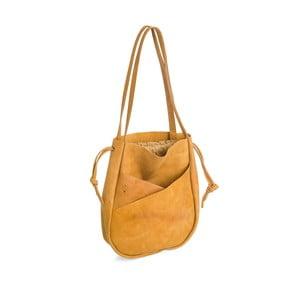 Tmavožltá kožená kabelka Woox Bella Deserta