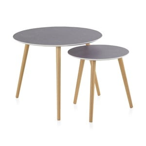 Sada 2 konferenčných stolíkov Geese Nordic Style Grisso, ⌀ 60 cm
