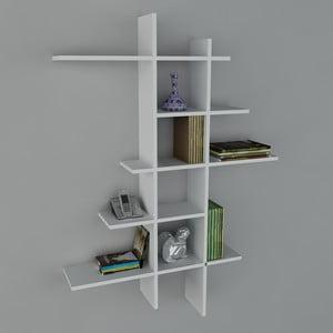 Polica Atlanta Book White, 22x90x150 cm
