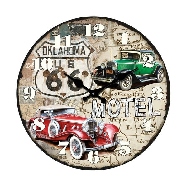 Sklenené hodiny Itálie, 34 cm