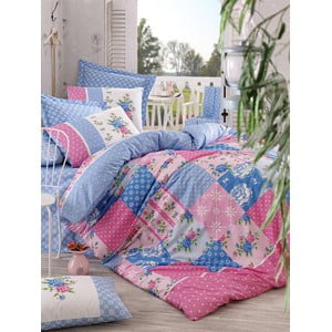 Obliečky s plachtou Patchwork Pink, 200x220 cm