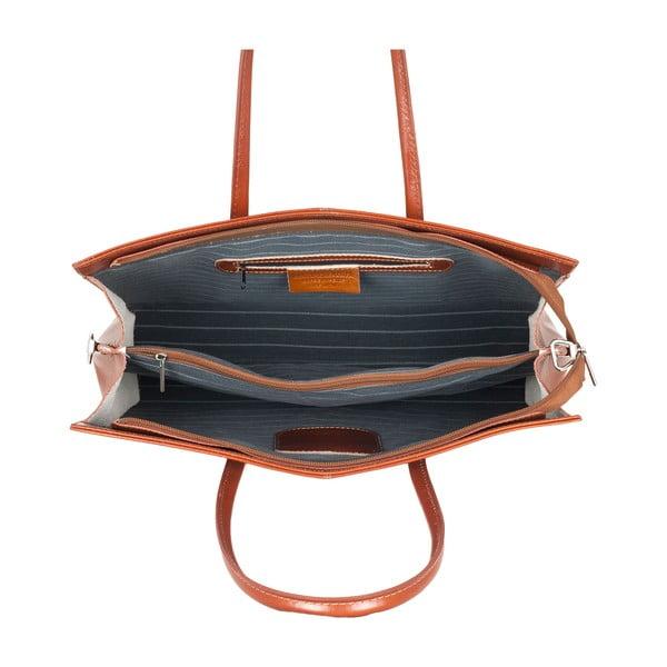 Kožená kabelka Ore Diece Olbia, medová