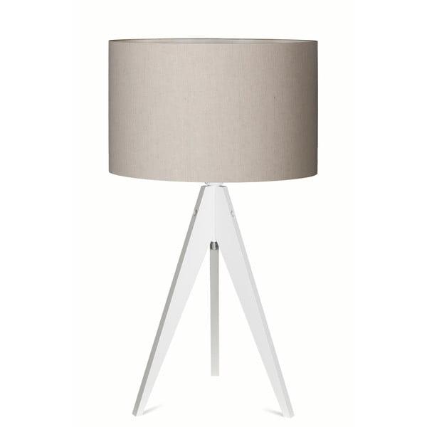 Stolná lampa Artist Grey/White, 65x33 cm