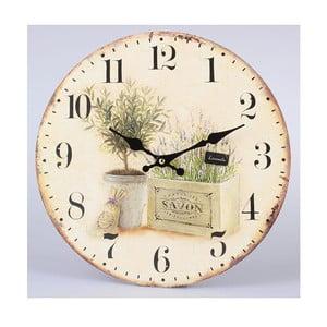Drevené hodiny Savon Lavender, 34 cm